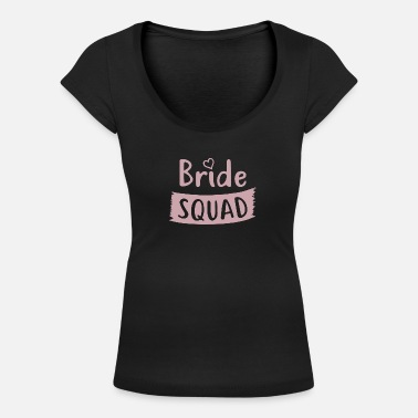 Squad Junggessellinenabschied - BRIDE SQUAD - T-shirt col rond profond Femme
