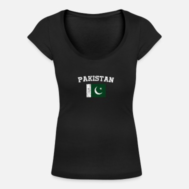 Pakistan Pakistani Flag Shirt - Vintage Pakistan T-Shirt - Women's Scoop-Neck T-Shirt