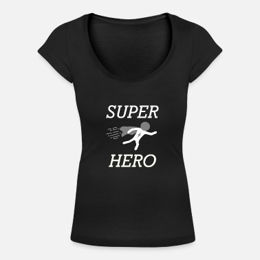 Leader per bambini Super Hero Hero World Star Master - Maglietta con scollo a barca donna