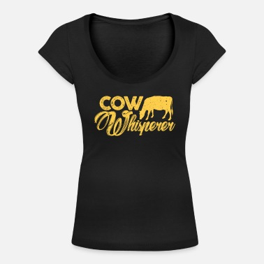Cows cow - Women's Scoop-Neck T-Shirt
