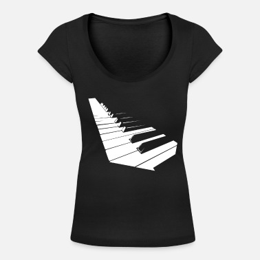 Piano piano - Women's Scoop-Neck T-Shirt