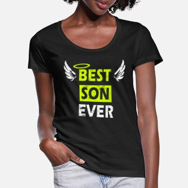 Best Son Ever - Perfect Gift Design with Wings - Women's Scoop-Neck T-Shirt