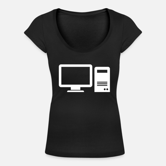 Computer T-Shirts - Computer - Women's Scoop-Neck T-Shirt black
