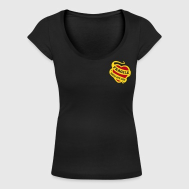 fragile handle with care - Women's Scoop Neck T-Shirt