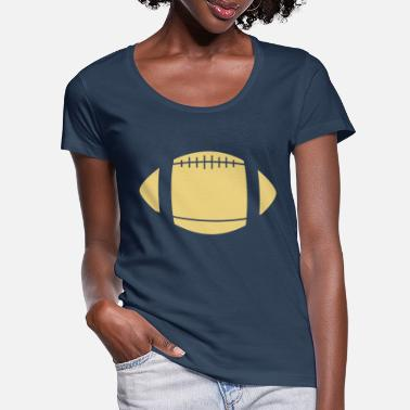 football - Women's Scoop-Neck T-Shirt