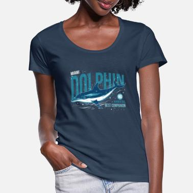 Miami Dolphins Miami Dolphin - Meilleur compagnon - T-shirt col rond profond Femme