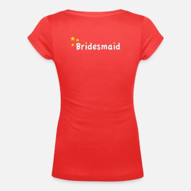 Star Bridesmaid - T-shirt scollata donna