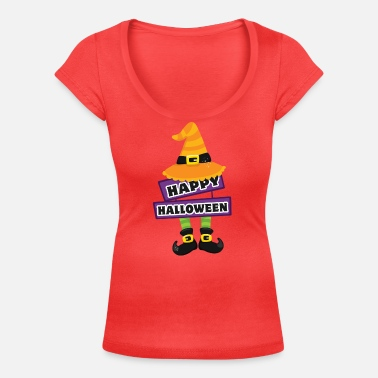 HAPPY HALLOWEEN - Women's Scoop-Neck T-Shirt