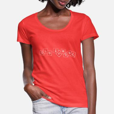 Retro Style cool old school lettering - Women's Scoop-Neck T-Shirt