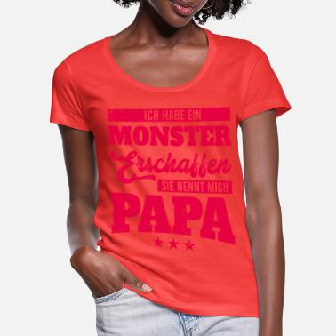 Clark Kent I've created a monster she calls me Pap - Women's Scoop-Neck T-Shirt