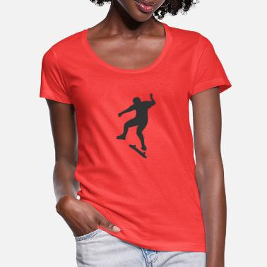 Skater on a skateboard - Women's Scoop-Neck T-Shirt