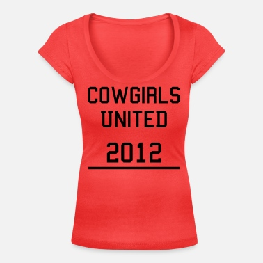 Cowgirls Cowgirls United - Women's Scoop-Neck T-Shirt