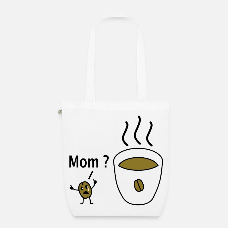 Cigarette Bags & Backpacks - sad coffee bean - Organic Tote Bag white