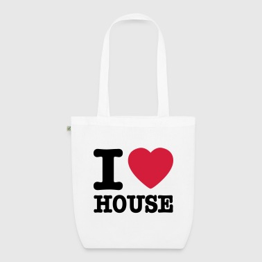 I love house / I heart house - Borsa ecologica in tessuto