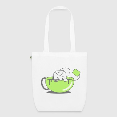 Tea bag in tea cup - EarthPositive Tote Bag