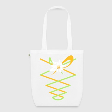 Ribbons with Edelweiss in a dirndl Look - EarthPositive Tote Bag