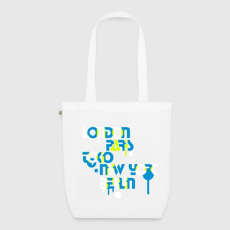 five cities, London, Paris, Tokyo, New York, Berlin, - EarthPositive Tote Bag