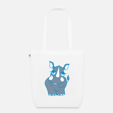 Shy The shy rhino  - EarthPositive Tote Bag
