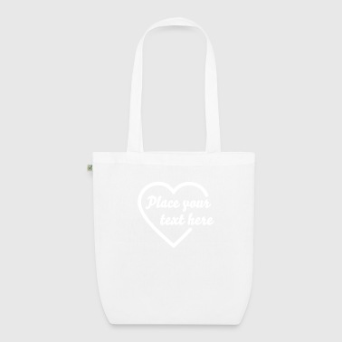 open heart outline (1c) - Borsa ecologica in tessuto