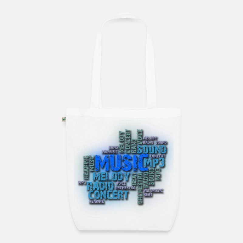 Art Bags & Backpacks - musica - Organic Tote Bag white