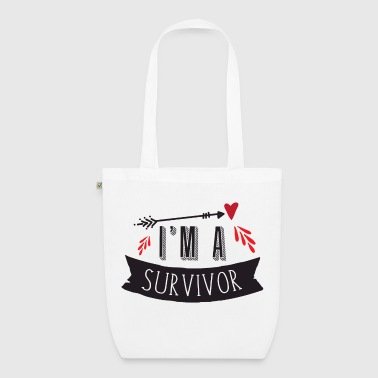 im a survivor with blood arrow - EarthPositive Tote Bag