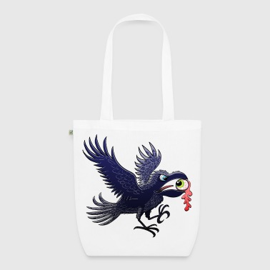 Crow Stealing an Eye - EarthPositive Tote Bag