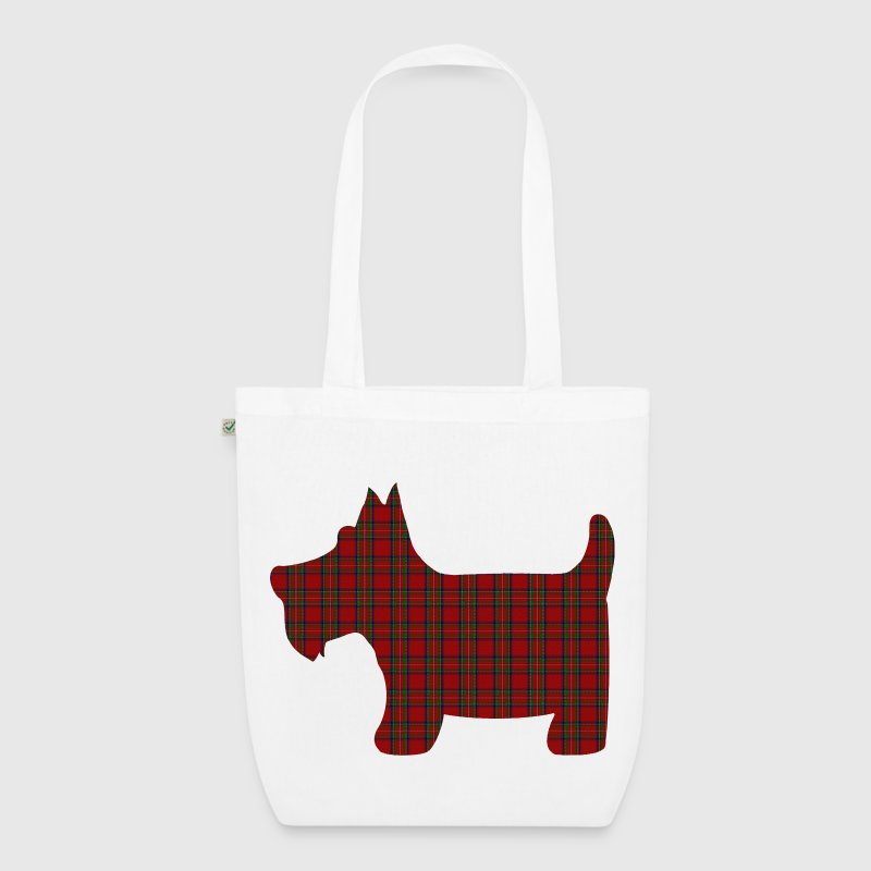 Scottie Dog in Royal Stewart Tartan  - EarthPositive Tote Bag