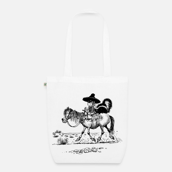 Officialbrands Bags & Backpacks - Thelwell 'Cowboy with a skunk' - Organic Tote Bag white
