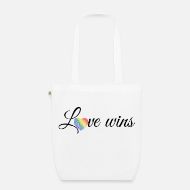 Love Wins Black - EarthPositive Tote Bag