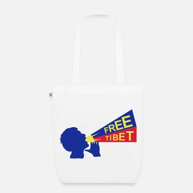Quote free tibet - Organic Tote Bag