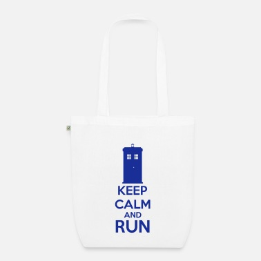 Keep Calm And Keep Calm And Run - Bolsa de tela ecológica