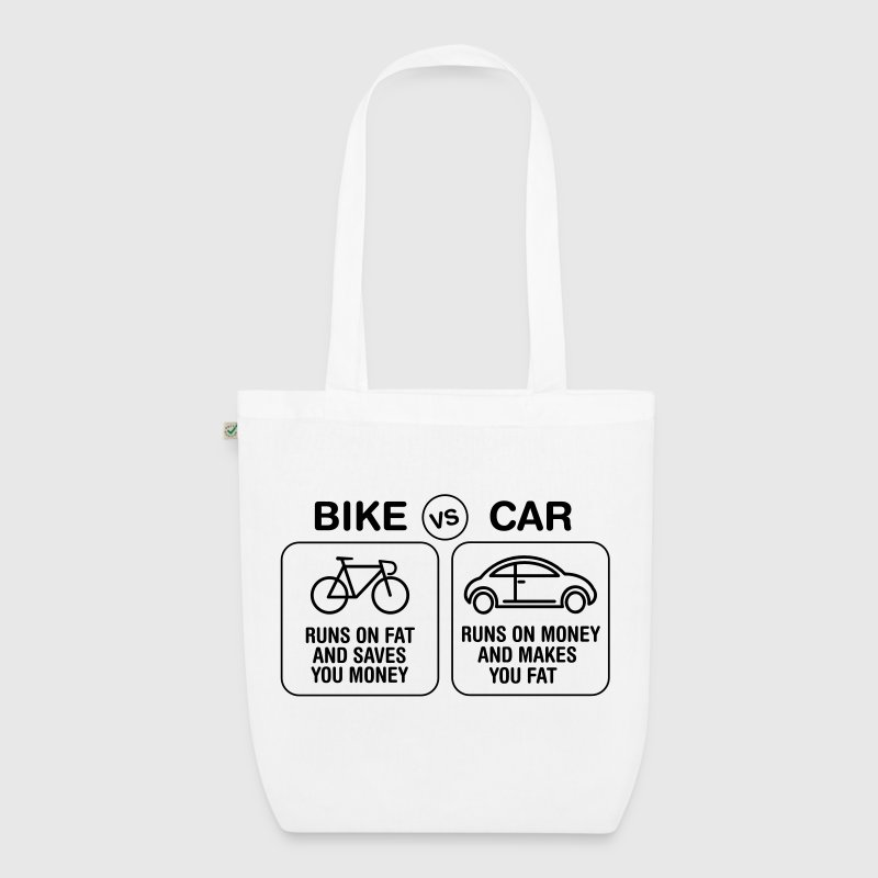 Bike VS Car | Burn Fat Not Oil | Love Cycling - Bio-Stoffbeutel