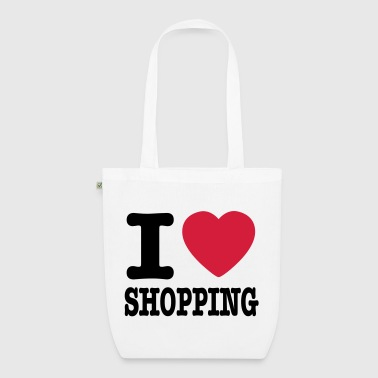 i love shopping - Ekologisk tygväska