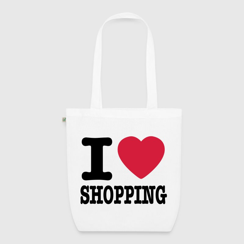 i love shopping - Bio-Stoffbeutel