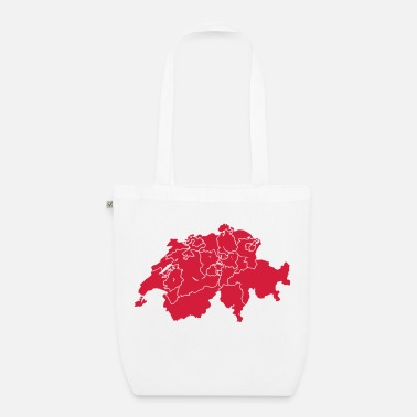 Canton Schweitz with cantons - Organic Tote Bag