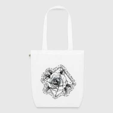 Rose with quote - EarthPositive Tote Bag