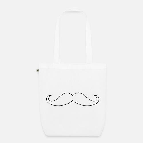 Moustache Outline - Luomu-kangaskassi. Edestä 6777d3102d