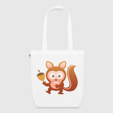 Smiling Little Squirrel - EarthPositive Tote Bag