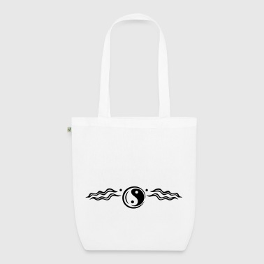 Large lotus flower with yin and yang symbol. - EarthPositive Tote Bag