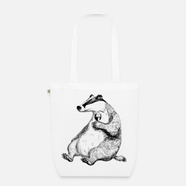 Badger with Wine - EarthPositive Tote Bag