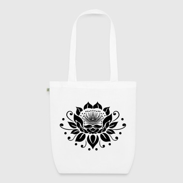 Large lotus flower in tattoo style. - EarthPositive Tote Bag
