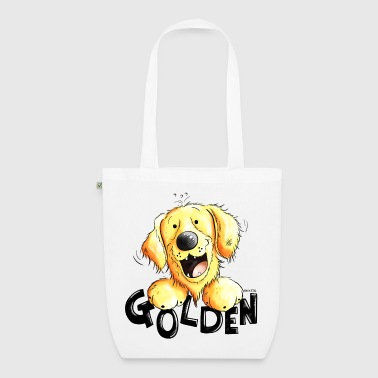 Golden Retriever Divertente Golden Retriever - Borsa ecologica in tessuto