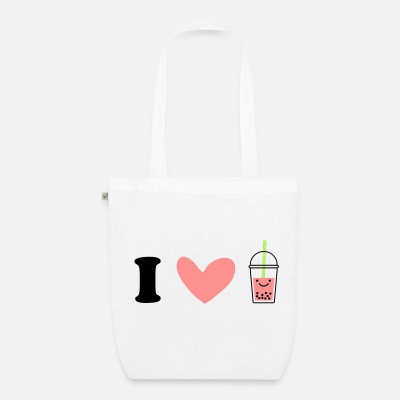 Bts Bags & Backpacks - I Love Bubble Tea - Organic Tote Bag white