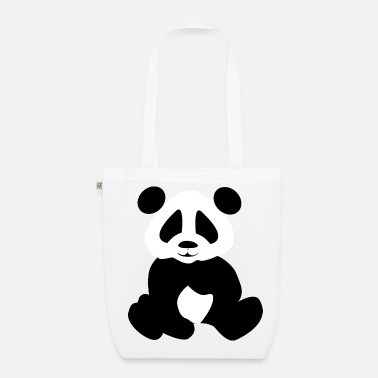 Panda Black panda - EarthPositive Tote Bag