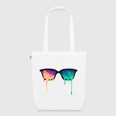 Abstract Psychedelic Nerd Glasses with Color Drops - EarthPositive Tote Bag