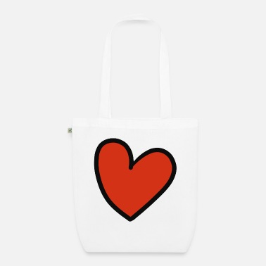 Crook crooked heart - Organic Tote Bag