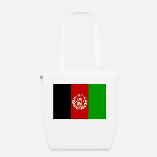 Country Bags & Backpacks - Afghanistan flag - Organic Tote Bag white
