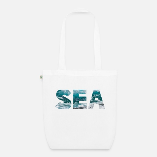 Waves Bags & Backpacks - SEA - Organic Tote Bag white