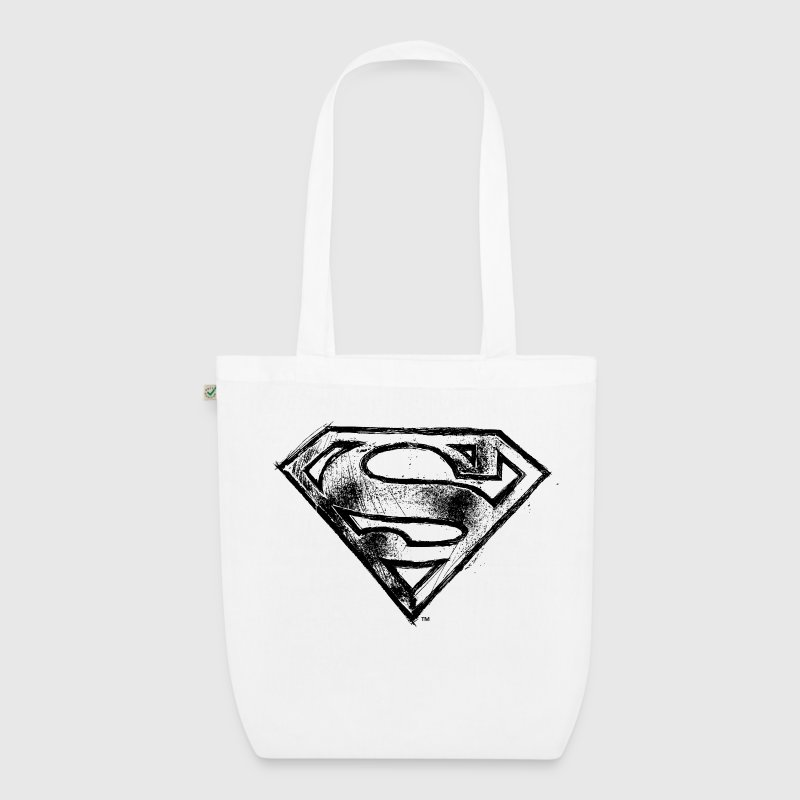 Superman S-Shield in Schwarz T-Shirt für Kinder  - Bio-Stoffbeutel