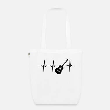 Evolution &amp A HEART IS BEATING FOR THE GUITAR - Organic Tote Bag
